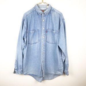 Men's Vintage Levi's Distressed Denim Shirt